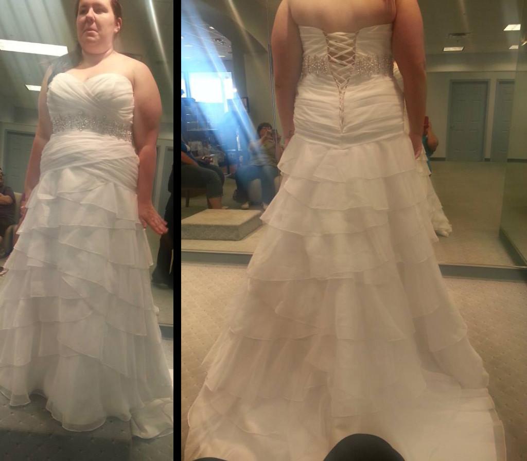 Trying On Big White Dresses Weddingbee